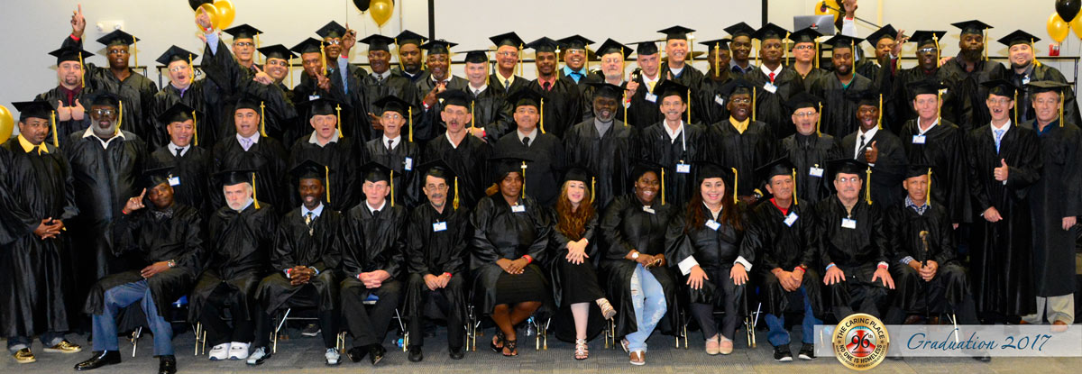 Graduating Class of formerly homeless.
