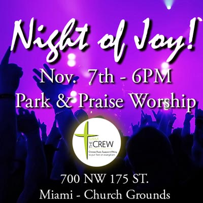 Special Night of Joy praise and worship fundraiser.
